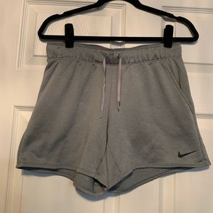 Woman's Nike Dri fit grey shorts